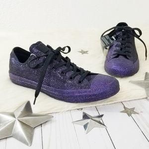 Converse Purple glitter sneakers Standout 9 black